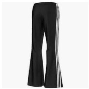 Adidas Flare Leg Track Pants. NWT. Medium. Black NWT